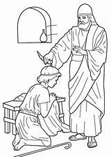 Pastor Coloring Getdrawings Mephibosheth sketch template