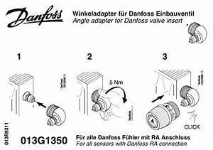 Danfoss Vinkeladapter F U00f6r Integrerade Ventiler  M30