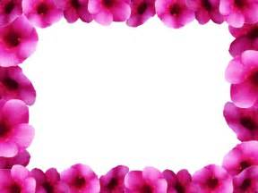 Spring Flowers Page Borders Free