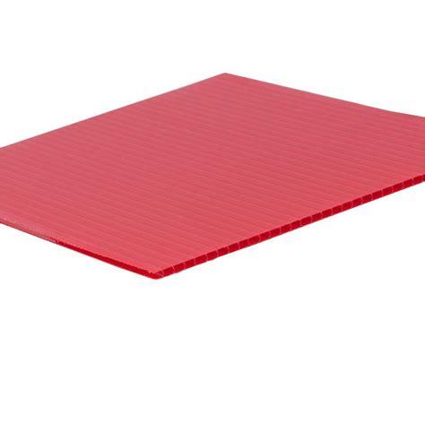 48 In X 96 In X 0157 In Red Corrugated Plastic Sheet