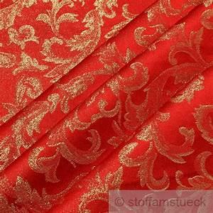 Polsterstoff Samt Grün : polyester jacquard ornament rot gold muster weihnachten ~ Michelbontemps.com Haus und Dekorationen