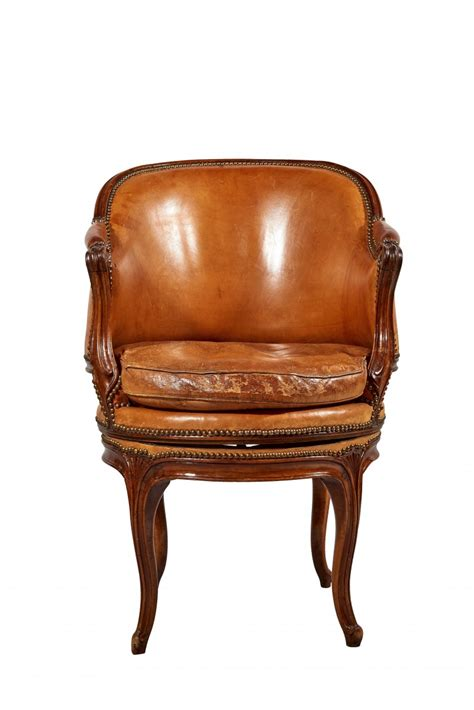 a louis xv rotating fauteuil de bureau ref 64597