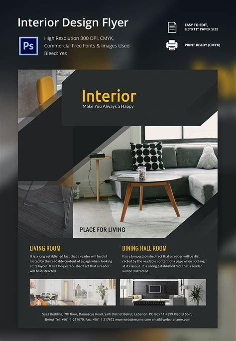 interior design flyer template   psd ai vector