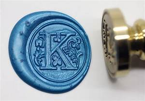 s1153 alphabet letter k wax seal stamp sealing With letter wax seal stamp