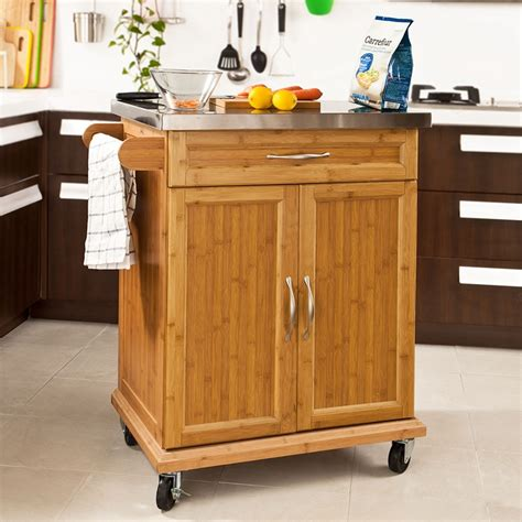 Kitchen Cupboard On Wheels by Sobuy 174 Kitchen Storage Cabinet Kitchen Island Trolley