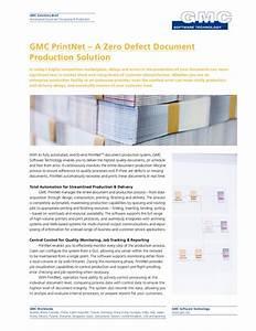 gmc printnet a zero defect document production solution With document production software