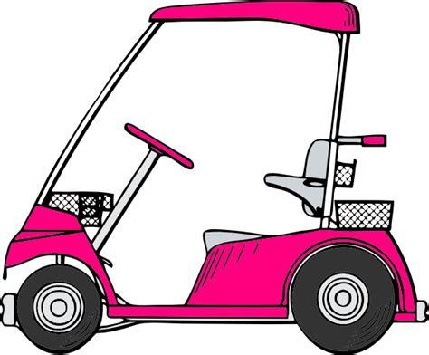 Golf Cart Clip Pink Golf Cart Clip At Clker Vector Clip