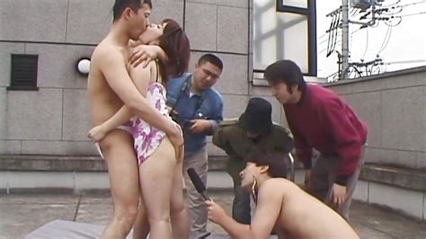 fucking on the roof top hd from all japanese pass public sex japan