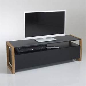 Meuble Tv 1m : meuble tv porte abattante compo ch ne noir la redoute interieurs la redoute ~ Teatrodelosmanantiales.com Idées de Décoration