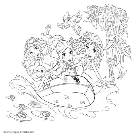 lego friends coloring pages   boat coloring pages