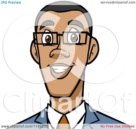 Cartoon Of A Black Business Man Avatar Royalty Free