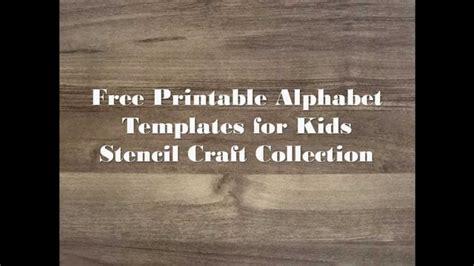 printable alphabet templates  kids stencil craft