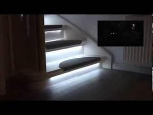 Kit Led Escalier : kit eclairage escalier led progressif disponible sur materiel hi youtube ~ Melissatoandfro.com Idées de Décoration