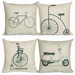 on sale 4545cm bike cushion no filling cotton linen With decorative sofa pillows on sale