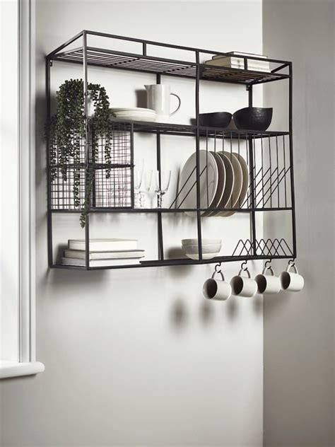 industrial style iron wall unit wide storage furniture drawers ladder muebles de