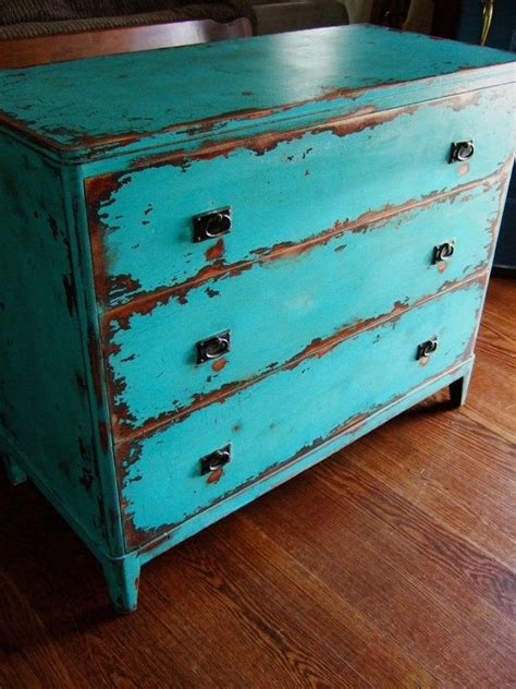 Teal Distressed Furniture