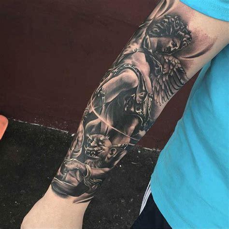 28+ [ 33 Best Tattoos For Men ]  Men Rose Sleeve Tattoos