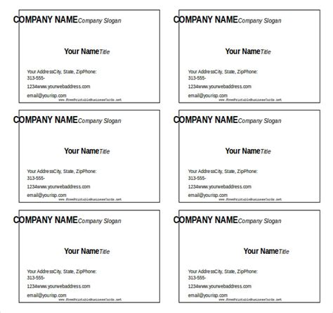 blank business card template word 2016 11 microsoft word free blank templates free