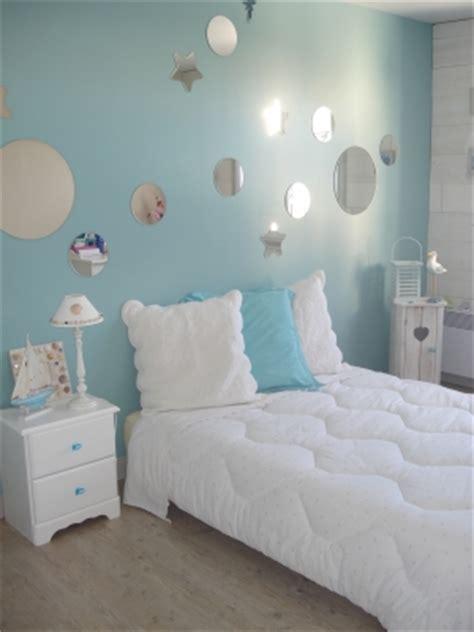 chambre bleu pour fille chambre fille sirene princesse mais pas trop de