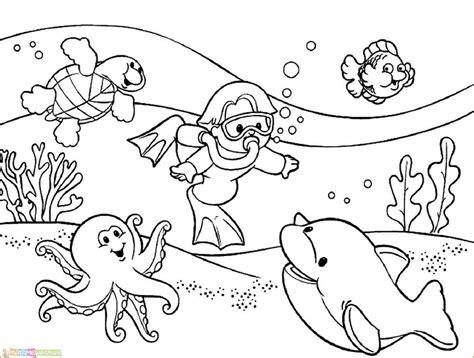 13 mewarnai pemandangan bawah laut untuk anak 2020