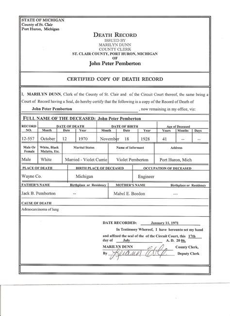 blank death certificates  blank death certificates