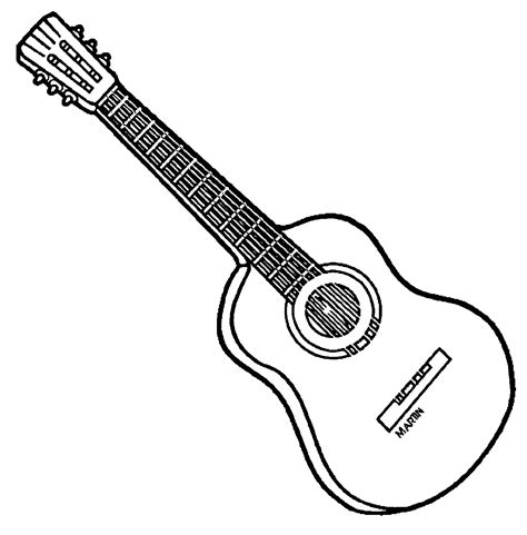 coloring pages guitar coloring home