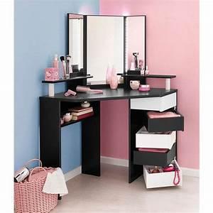 Coiffeuse Meuble Ikea : coiffeuse d 39 angle avec miroir parisot volage 3suisses ~ Teatrodelosmanantiales.com Idées de Décoration