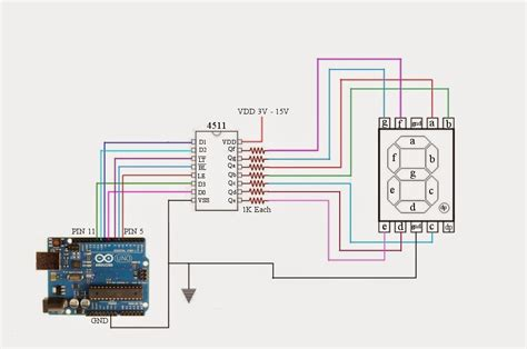 Control Common Cathode Seven Segment Display Using Arduino
