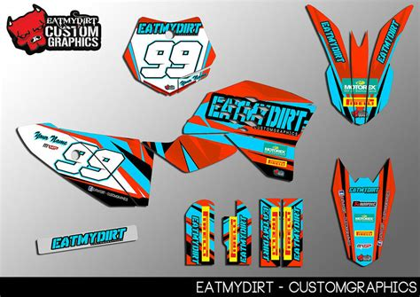 FOR YAMAHA PW50 1981-2010 FULL CUSTOM GRAPHICS KIT STICKERS