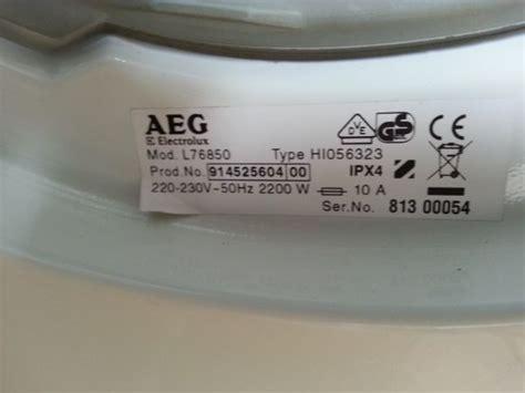 Aeg Ef0 by Foutcode E66 Bij Aeg Wasmachine Lavamat 76850
