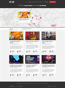 Events Listing Website Template -
