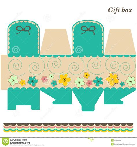 template box gift  candy royalty  stock