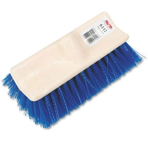 rubbermaid bi level deck scrub brush rcp 6337 blu d