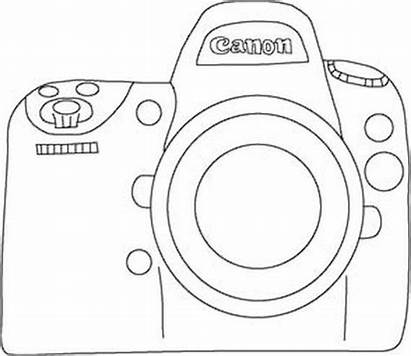 Camera Drawing Easy Canon Template Embroidery Doodle