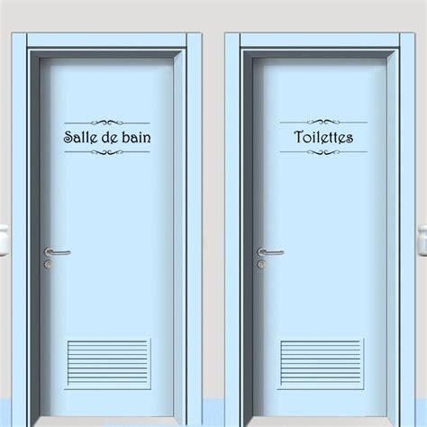 stickers porte chambre vinyl wall sticker porte salle de bain et toilettes