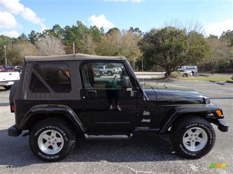 jeep sahara black black 2004 jeep wrangler sahara 4x4 exterior photo