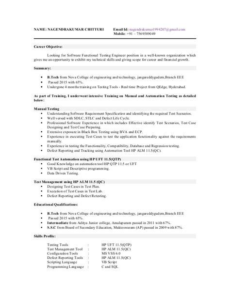 nani testing resume