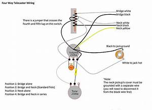 Telecaster Tele 4 Way Wiring Harness Upgrade Cts Sprague