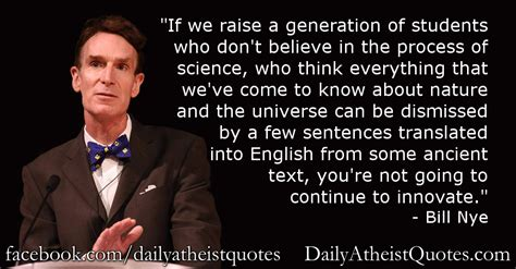 Bill Nye Quotes Bill Nye Atheist Quotes Quotesgram