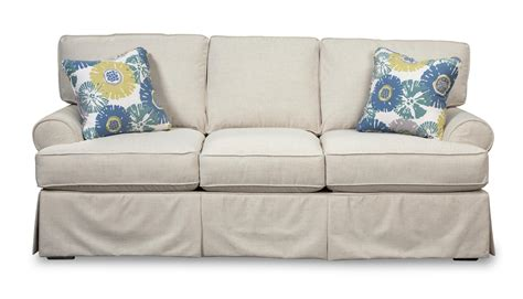 Slipcover For Sleeper Sofa by Skirted Sleeper Sofa With Faux Slipcover Look By