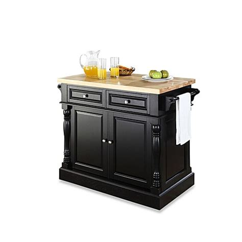 crosley butcher block top kitchen island buy crosley butcher block hardwood kitchen island in black 9518