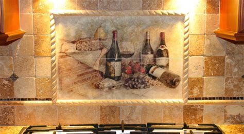tile murals for kitchens charming kitchen backsplash mural tiles with country 6173