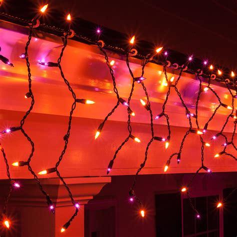christmas icicle light  purple orange halloween