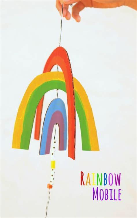 diy easy breezy cardboard rainbow mobile template