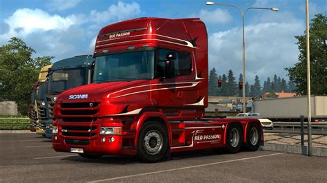 scania  rjl red passion limited edition skin ets mods