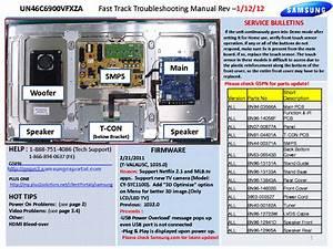 Samsung Un46c6900vfxza Fast Track Guide Service Manual