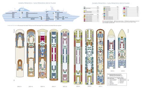 Princess Deck Plan Pdf by Sun Princess Cruise Ship Deck Plans Original Pacific