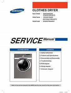 Samsung Dv431aep  Xaa Service Manual Pdf Download