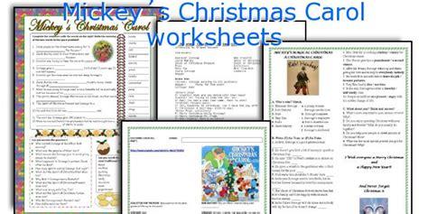 english teaching worksheets mickey 180 s christmas carol