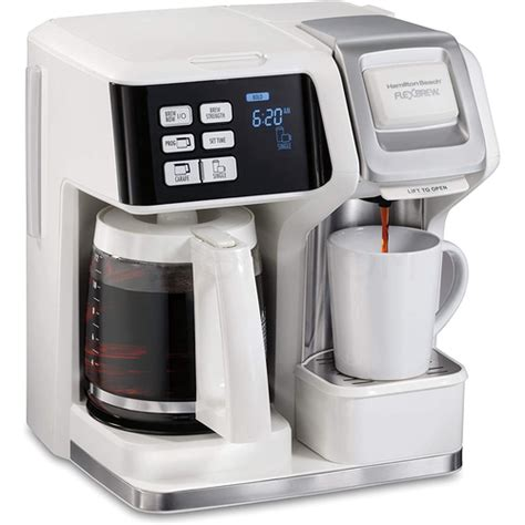 This machine makes great tasting coffee and the options of pod, single serve ground coffee or a large. Hamilton Beach FlexBrew 2 Way Coffee Maker Single-Serve/12 ...